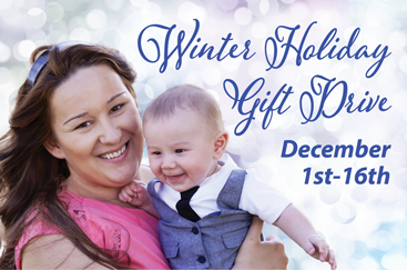 Join us for our Holiday Gift Drive, December 2-16, and give survivors the gift of hope.